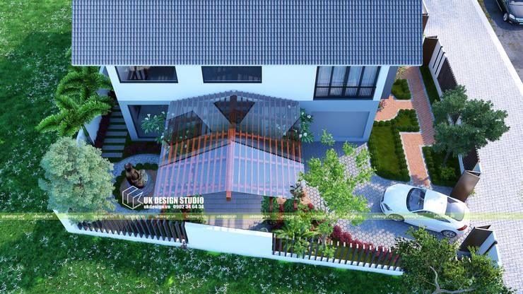 Biệt thự sân vườn:  Vườn thiền by UK DESIGN STUDIO - KIẾN TRÚC UK