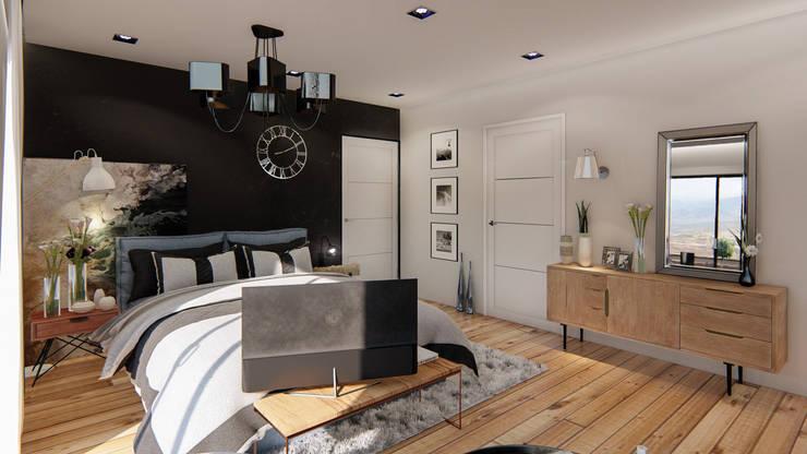 Diseño de espacios con madera: Hogar de estilo  por Cindy Castañeda
