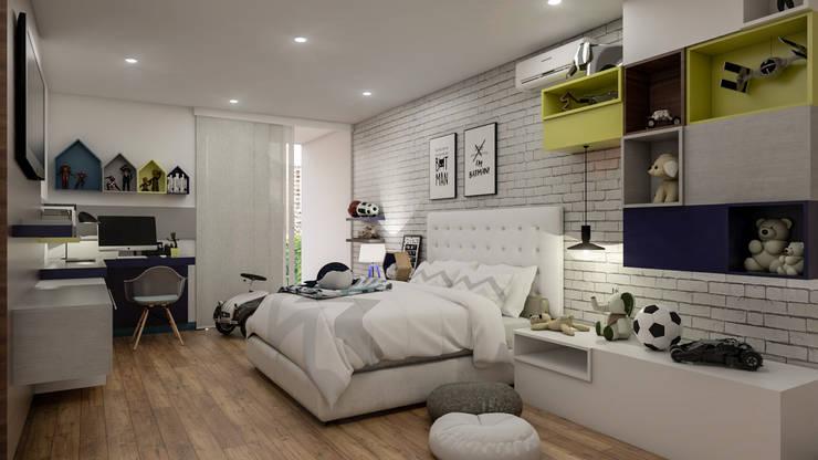 Diseño y decoración de habitación para niño: Habitaciones infantiles de estilo  por Cindy Castañeda