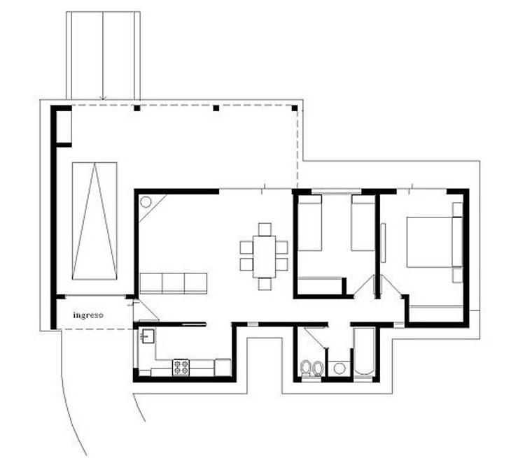 CASA EN TANTI , CORDOBA , ARGENTINA: Casas de campo de estilo  por arq5912  Arquitectura y Construcción,