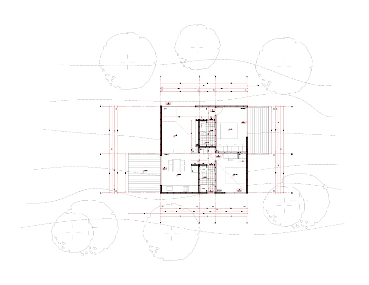 Planta Arquitectura: Casas de estilo  por mutarestudio Arquitectura