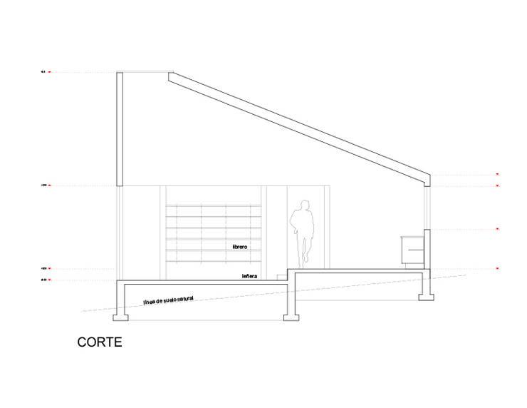 Corte: Casas de estilo  por mutarestudio Arquitectura