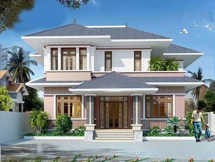 Gom ngay 8 mẫu nhà phố 2 tầng có thiết kế mái Thái độc đáo:   by Kiến Trúc Xây Dựng Incocons