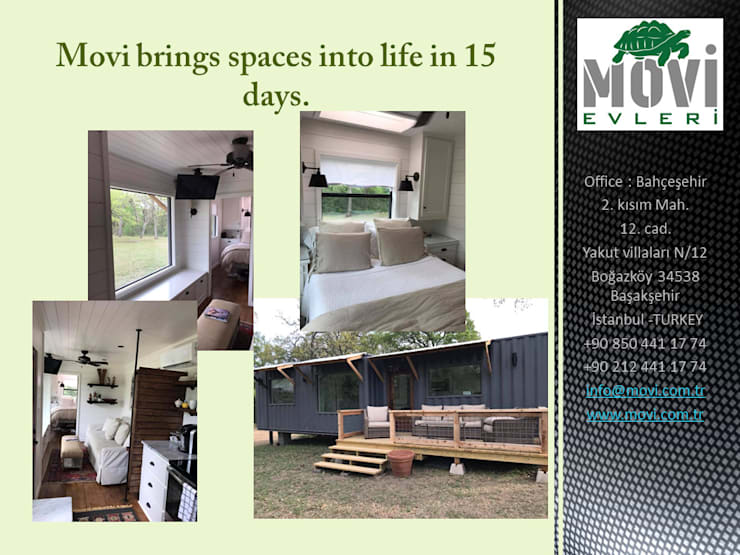 MOVİ evleri – MOVI SHIPPING CONTAINER  HOMES 1 :  tarz Kütük ev