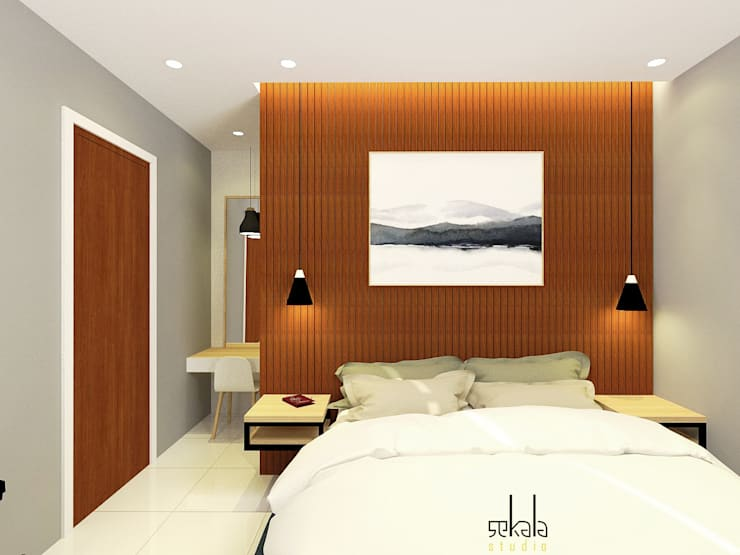 Camera da letto in stile  di SEKALA Studio