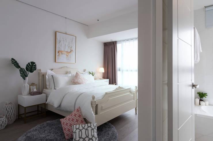 Dormitorios de estilo  de 北歐制作室內設計, Rural