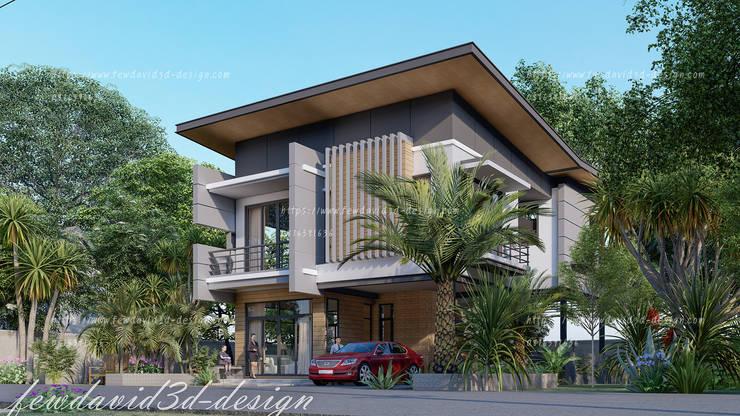 ผลงานออกแบบบ้านพักอาศัย2ชั้น 250 ตร.ม. จ.ภูเก็ต:   by fewdavid3d-design