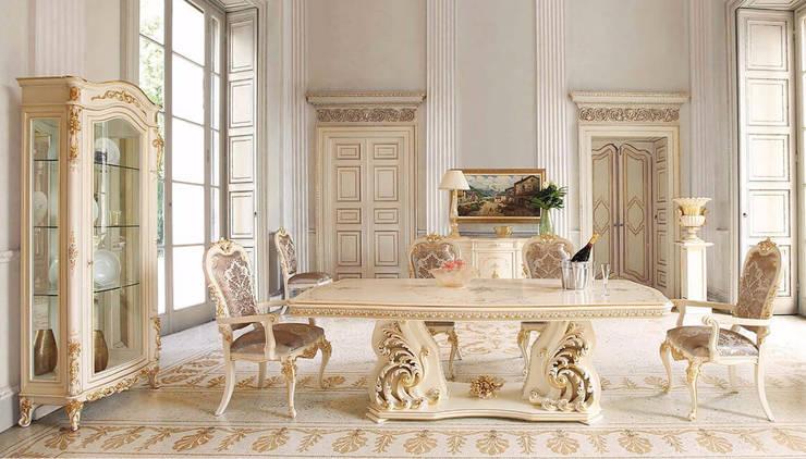 DBF古典家具精雕细刻,散发高档工艺品质:  餐廳 by 北京恒邦信大国际贸易有限公司