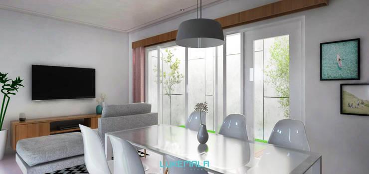 Ruang Makan & Keluarga:   by Lukemala Creative Studio