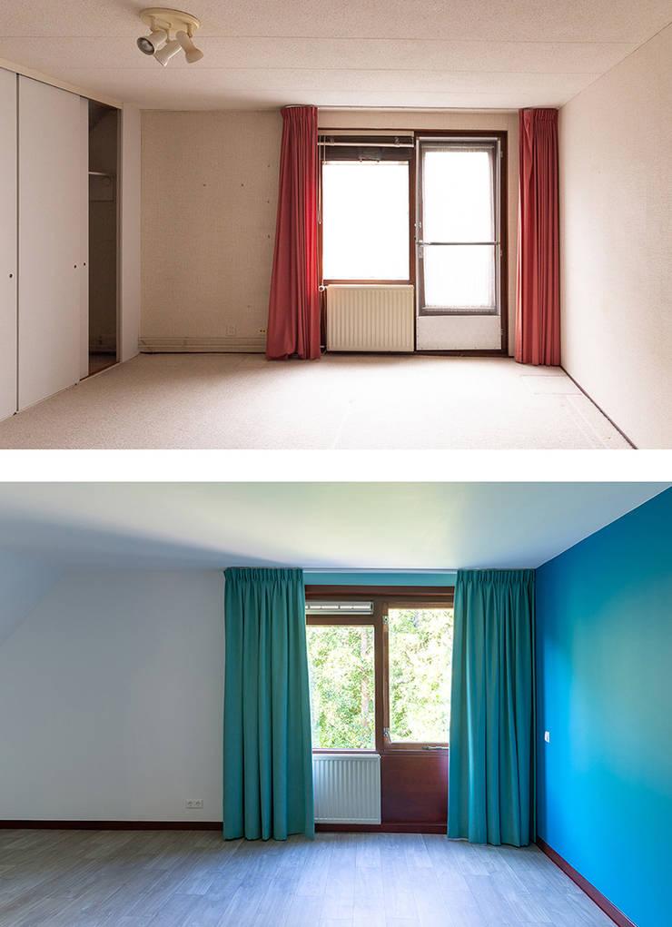 Regina Dijkstra Design의  작은 침실