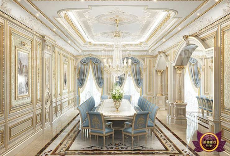 Extraordinary Dining Area:   by Luxury Antonovich Design