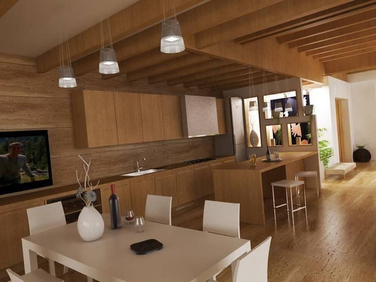 Cocinas de estilo moderno de Ing. Massimiliano Lusetti Moderno