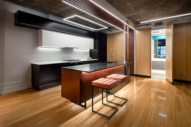 Collage Condo:  Kitchen by KUBE Architecture, Modern