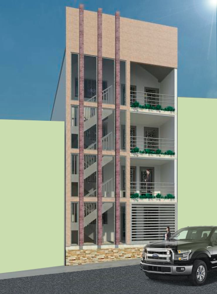 Diseño  Edificio  en la estrella, Antioquia : Casas de estilo  por  estudio artico