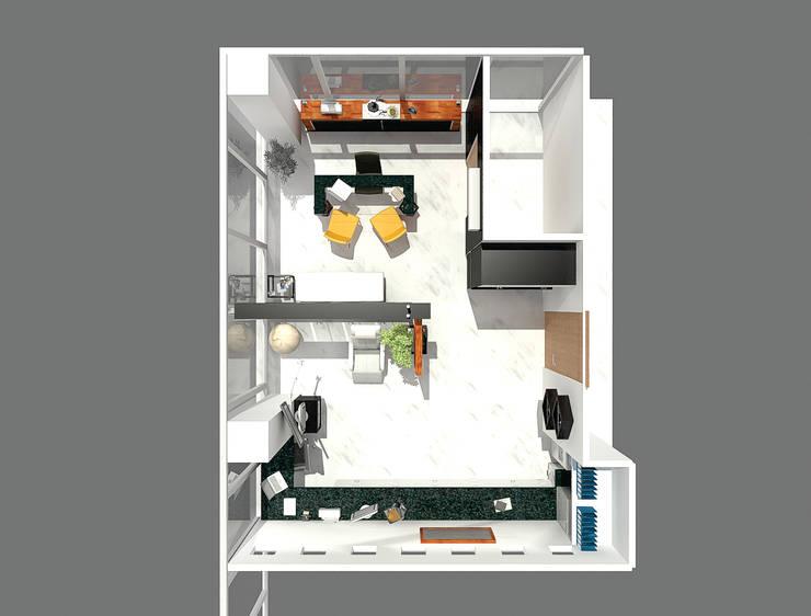 Ruang Kerja oleh Arqca, Minimalis