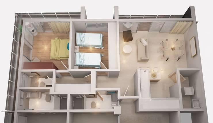 ห้องนั่งเล่น โดย Prototype studio, โมเดิร์น