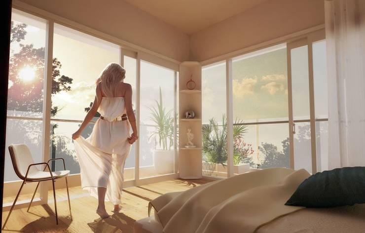 ห้องนอน โดย Prototype studio, โมเดิร์น