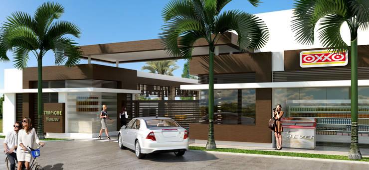 Acceso / Conjunto residencial Trapiche Houses / Ibagué - Colombia : Casas de estilo  por Taller 3M Arquitectura & Construcción