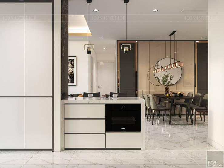 Thiết kế nội thất phong cách hiện đại tiện nghi tại căn hộ Vinhomes Central Park:  Nhà bếp by ICON INTERIOR