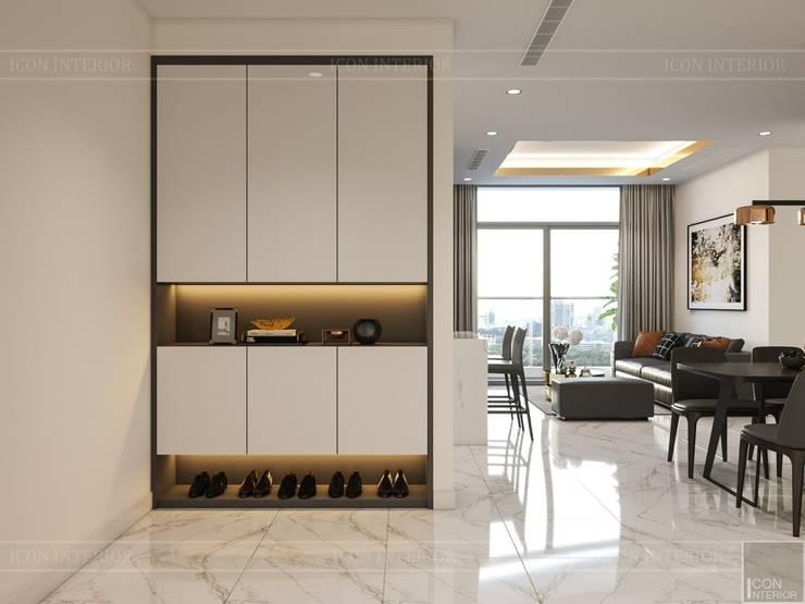 Thiết kế nội thất phong cách hiện đại tiện nghi tại căn hộ Vinhomes Central Park:  Cửa ra vào by ICON INTERIOR