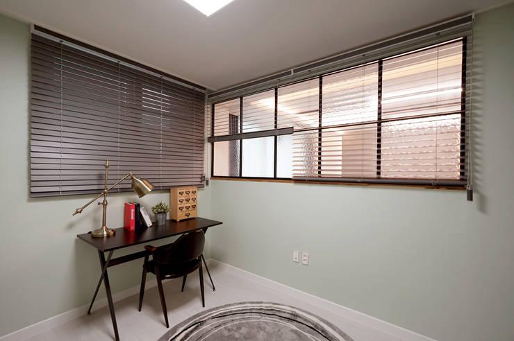 모던 인더스트리얼, 파주 빌라 프로젝트: 디자인 아버의  방