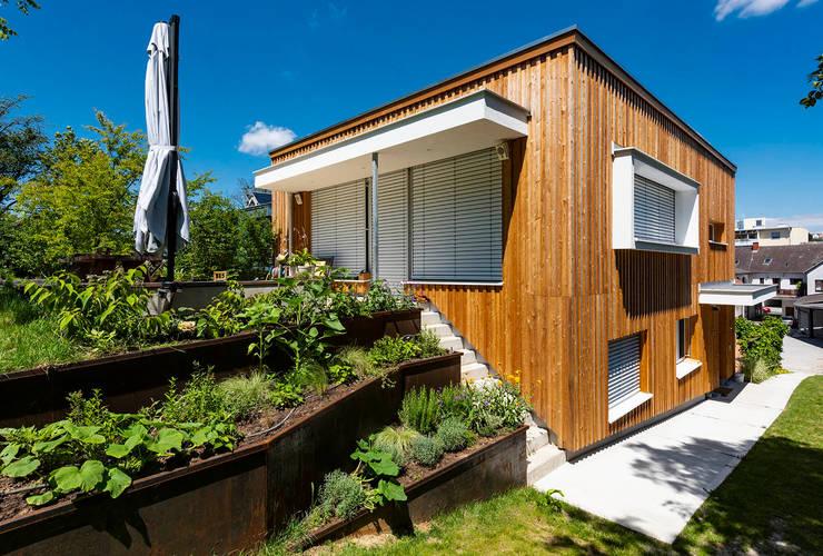 Holzfassade und Holzbau Moderne Häuser von AL ARCHITEKT - in Wien Modern