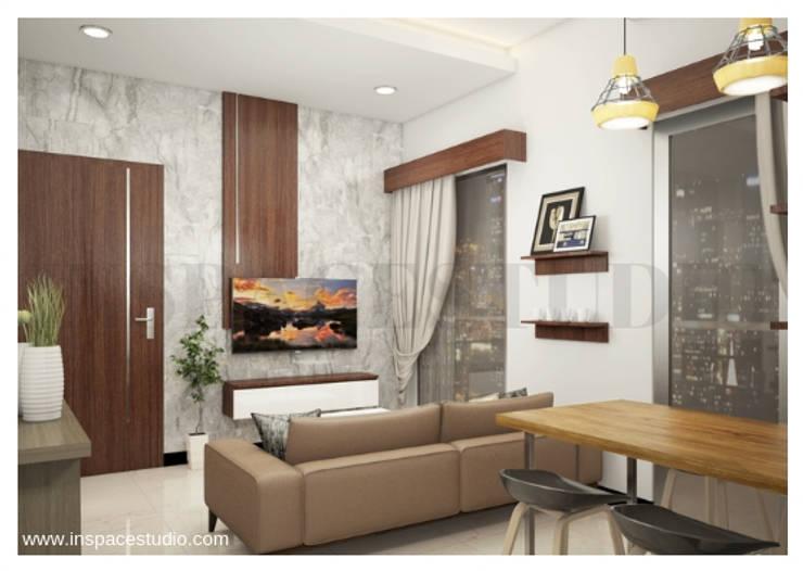 CB 02 Apartement:  Ruang Keluarga by Inspace Studio