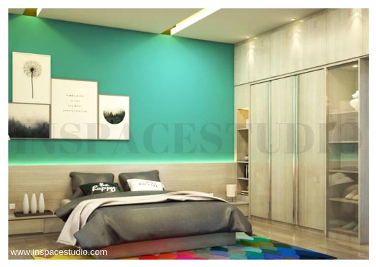 Kamar tidur - perspektif samping :  Kamar Tidur by Inspace Studio