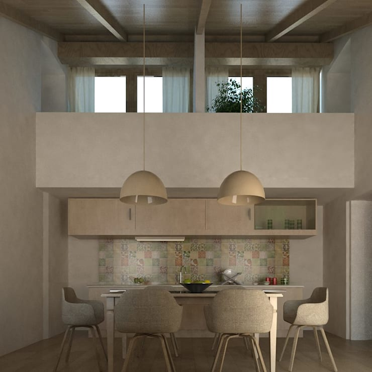 Dining room by Ing. Massimiliano Lusetti, Mediterranean Wood Wood effect