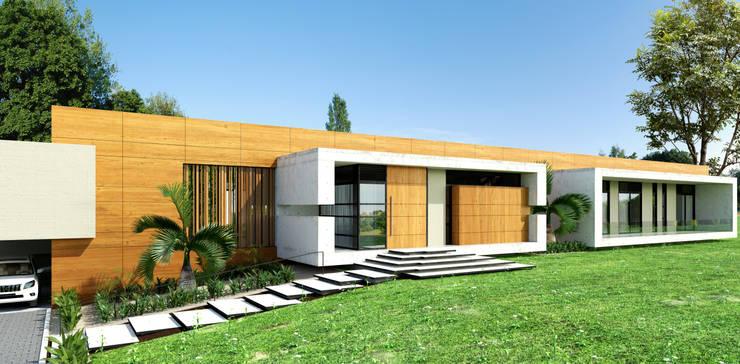 Fachada principal / Casa Conjunto residencial Las Victorias / Ibagué - Colombia: Conjunto residencial de estilo  por Taller 3M Arquitectura & Construcción