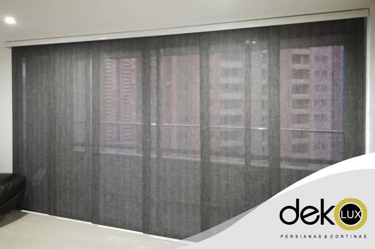 Panel Japonés - Screen Rústico: Puertas y ventanas de estilo  por Dekolux Persianas y Cortinas
