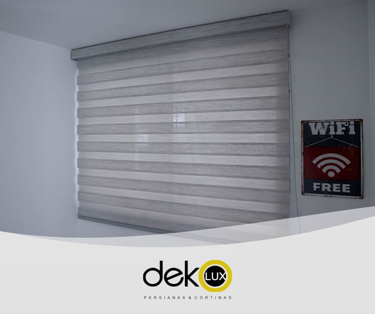 Sheer Elegance Screen: Dormitorios de estilo  por Dekolux Persianas y Cortinas