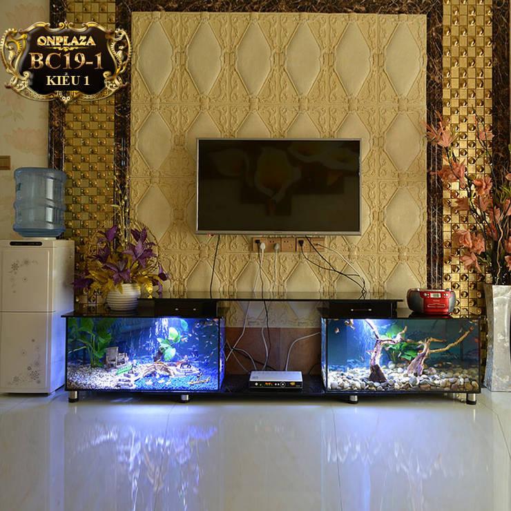Bể cá cảnh kết hợp kệ tivi:   by Công Ty Thi Công Và Thiết Kế Tiểu Cảnh Non Bộ