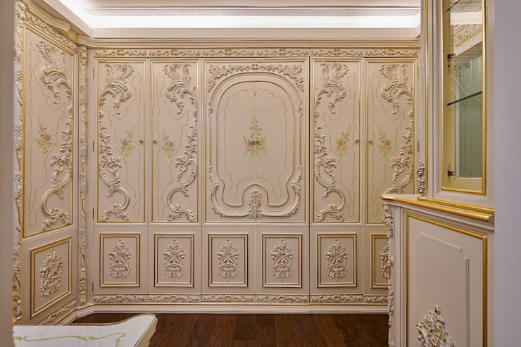 法式古典櫃體門片:  更衣室 by 歐式藝廊法式新古典設計