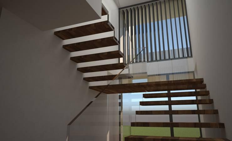 CASA MANIS: Escadas  por Atelier 72 - Arquitetura, Lda