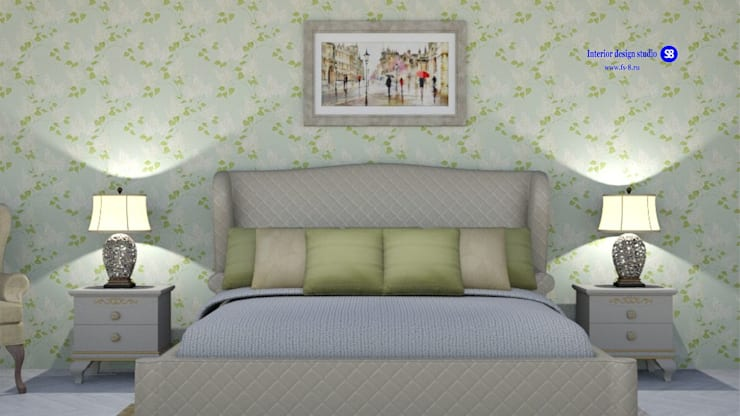 Bedroom in classic style:  Bedroom by 'Design studio S-8'