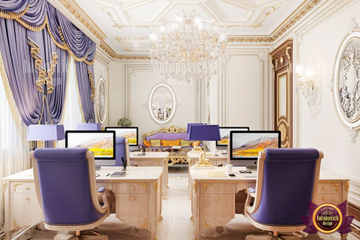 Incredible Study Room Design:   by Luxury Antonovich Design