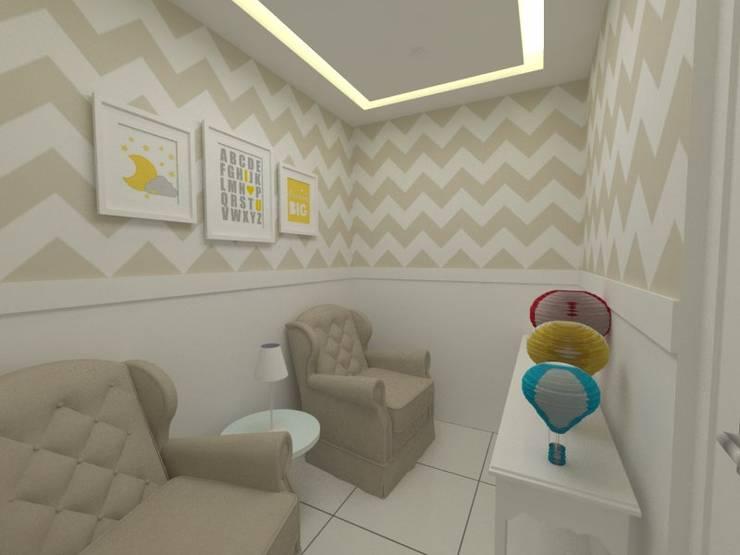 Espaço de amamentação: Quartos de bebê  por Oria Arquitetura & Construções