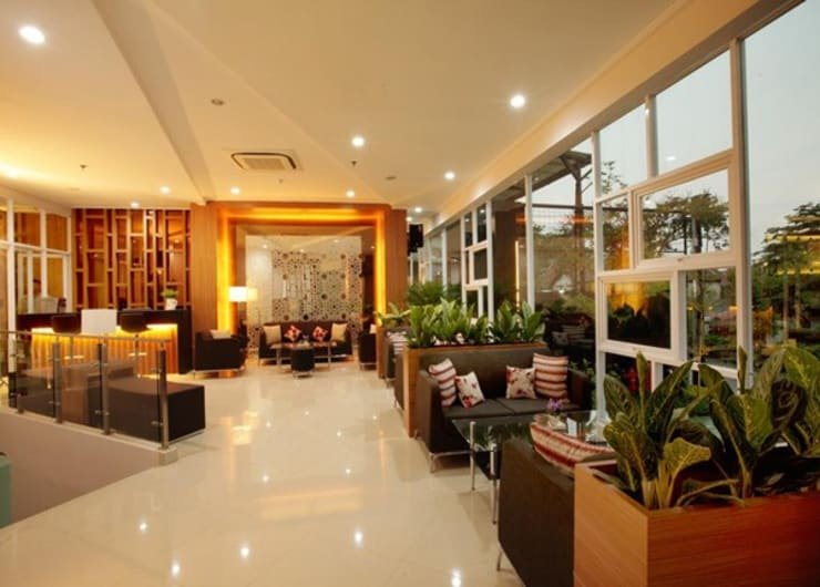 lobby:  Hotels by daun architect