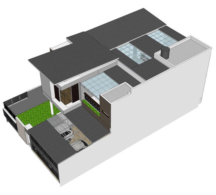 rumah di pasir jaya:  Atap by daun architect