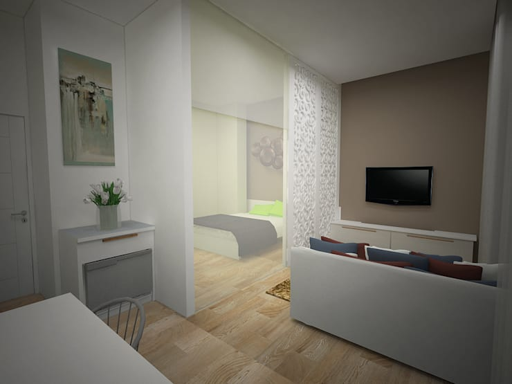ruang duduk:   by daun architect