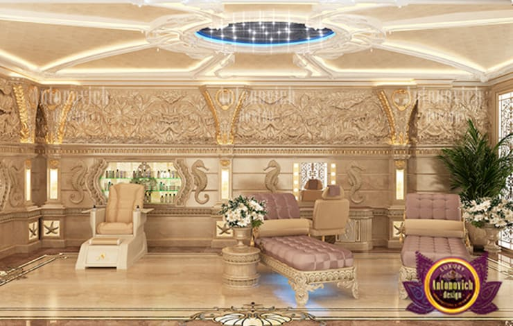 Comfy Luxury Relaxation Room:   by Luxury Antonovich Design