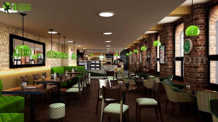 Conceptual 3D Modern Cafe & Restaurant Ideas by Yantram Interior ...
