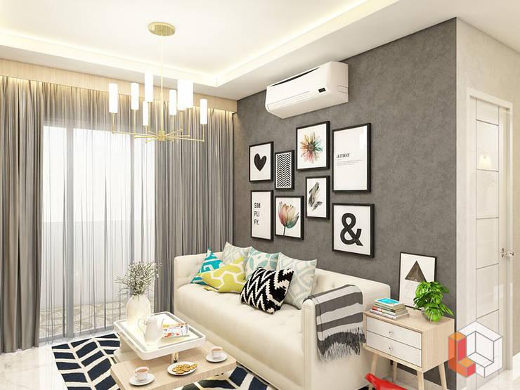 Apartemen Harmoni:  Ruang Keluarga by Lavrenti Smart Interior