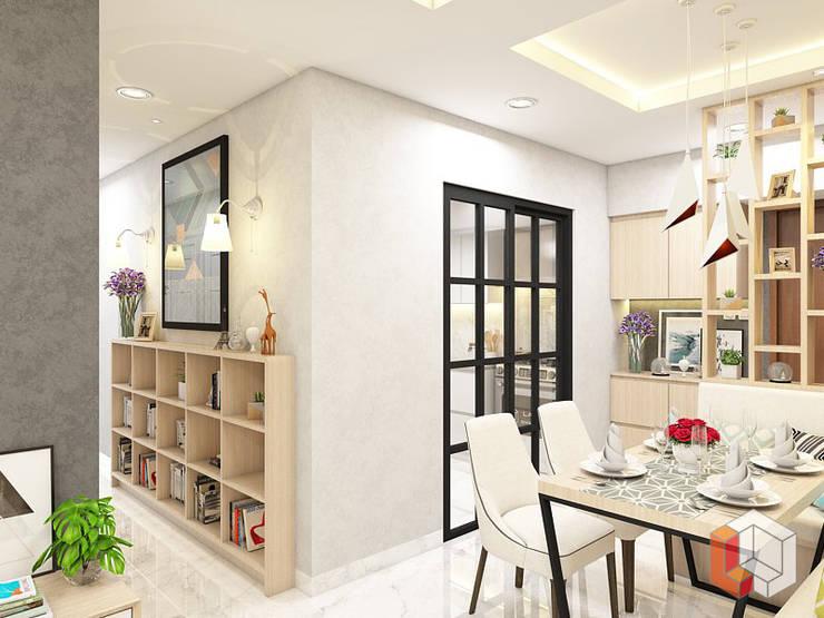 Apartemen Harmoni:  Ruang Makan by Lavrenti Smart Interior