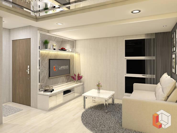 Apartemen Pasar Baru:  Ruang Keluarga by Lavrenti Smart Interior