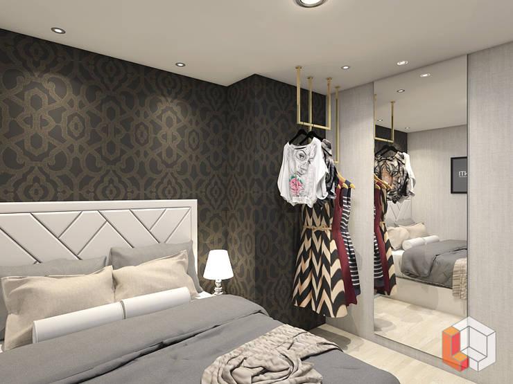 Apartemen Pasar Baru:  Kamar Tidur by Lavrenti Smart Interior