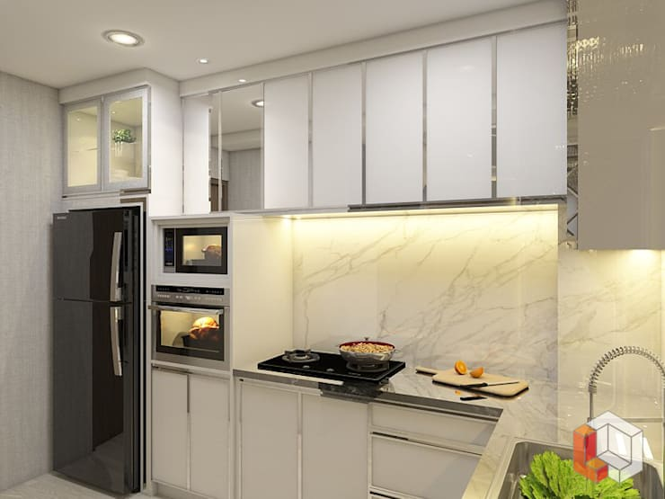 Apartemen Pasar Baru:  Dapur by Lavrenti Smart Interior