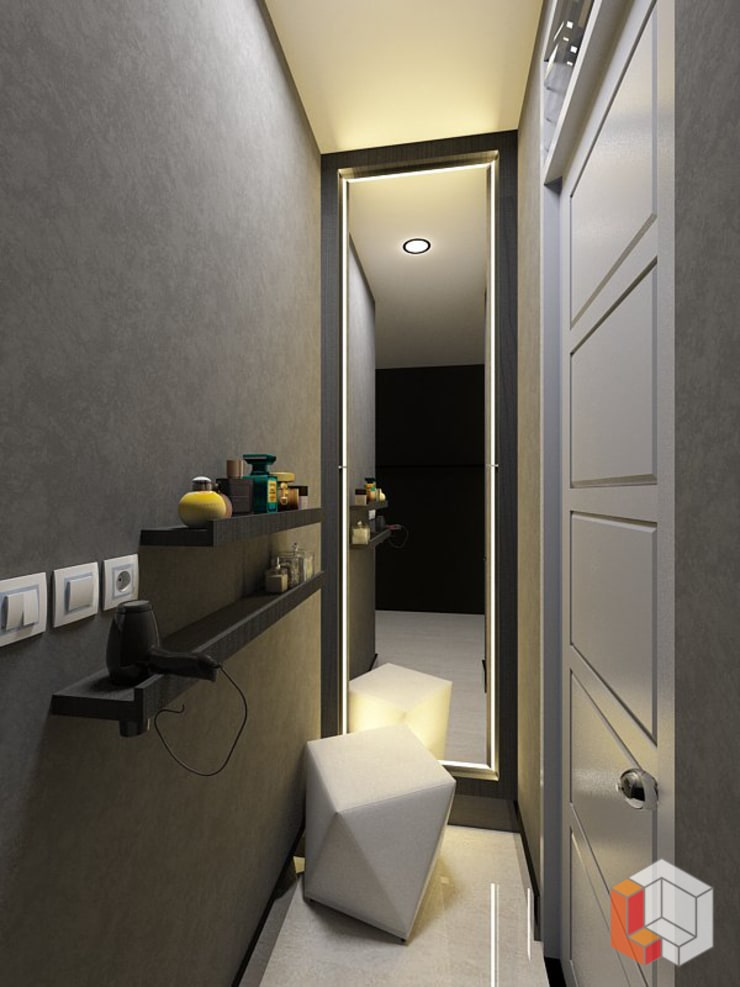 Kamar Anak Bukit Gading Villa:  Koridor dan lorong by Lavrenti Smart Interior