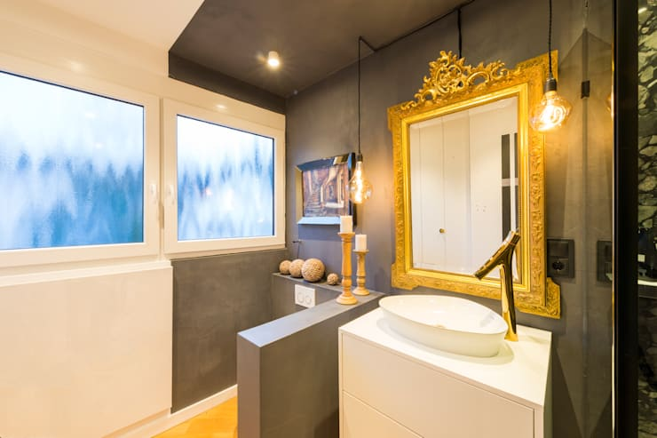 Eclectic style bathroom by hysenbergh GmbH | Raumkonzepte Duesseldorf Eclectic
